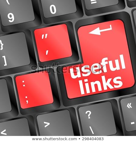 útil ligações teclado botão negócio internet Foto stock © fotoscool