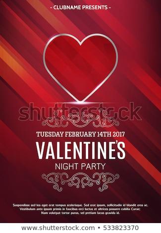 Valentijnsdag robijn hart bruiloft vader Stockfoto © carodi