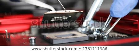 Microprocessor detail elektronische afbeelding abstract ontwerp Stockfoto © carloscastilla