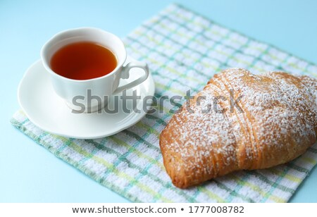 croissants with icing sugar on a plate, soft focus Stock photo © Photocrea