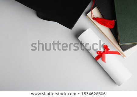 libros · graduación · CAP · 3d · escuela · lectura - foto stock © jarenwicklund
