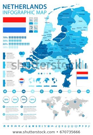 dutch map with flag stock photo © marinini