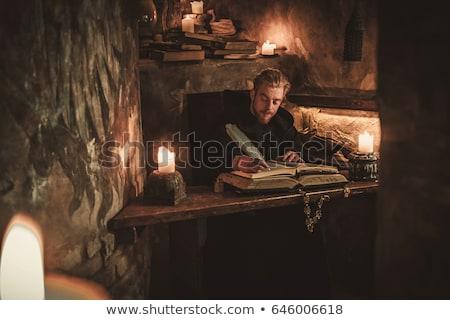 Eski el yazması vektör eski arka plan Stok fotoğraf © Kotenko