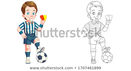 cartoon · dibujo · arte · feliz · deporte · retrato - foto stock © indiwarm