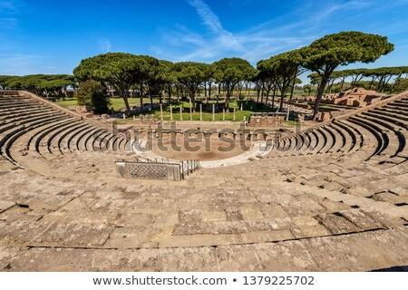 Ancient Roman Column Ostia Antica Rome Italy Stock photo © billperry