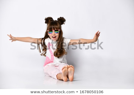 Dziewczyna moda grunge strony sylwetka gwiazdki Zdjęcia stock © gubh83