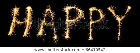 születésnap · csillagszóró · konzerv · lát · egyéb · szavak - stock fotó © paha_l