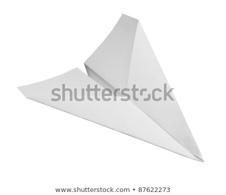 studio photography of a paper plane isolated on white with clipping path Stock photo © Zhukow