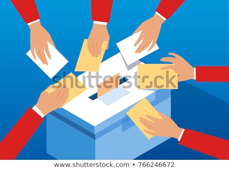 Stock photo: Vote Cast Into Locked Ballot Box