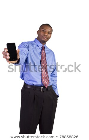 biały · człowiek · czarny · telefon · streszczenie · ilustracja · telefonu - zdjęcia stock © dacasdo