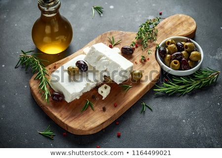 túró · oregano · átlátszó · tál · ital · sajt - stock fotó © stevanovicigor