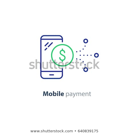 vector icon mobile phone and cash stock photo © zzve