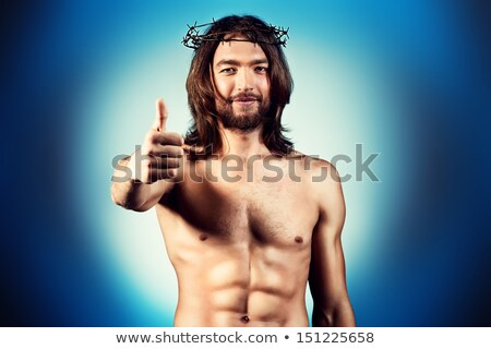 primer · plano · Jesús · Cristo · sonriendo · hombre · arte - foto stock © zzve