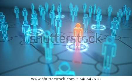 3D concept illustration of human resources management  Stock photo © dacasdo