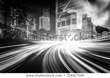 Siyah beyaz karayolu yol araba Stok fotoğraf © SecretSilent