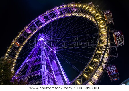Stock photo: Big wheel at night