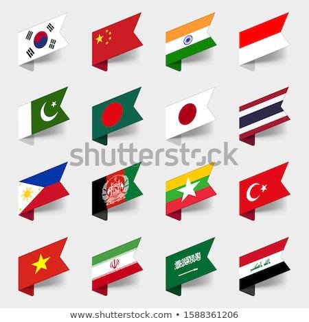 térkép · zászló · Japán · háttér · utazás - stock fotó © perysty