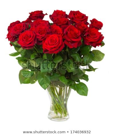 nagy · piros · rózsa · virágcsokor · gránit · virág · virágok - stock fotó © tetkoren