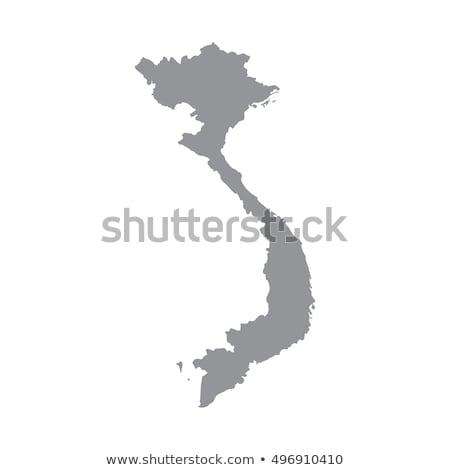 Grey Vietnam map vector illustration © Iryna Volina (Volina