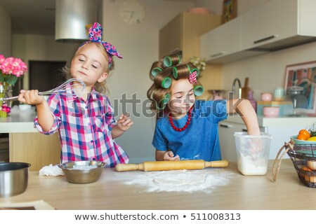 Human girl and monkey holding hands Stock photo © pxhidalgo