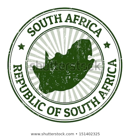 Po pieczęć republika Południowej Afryki wydrukowane obraz Zdjęcia stock © Taigi