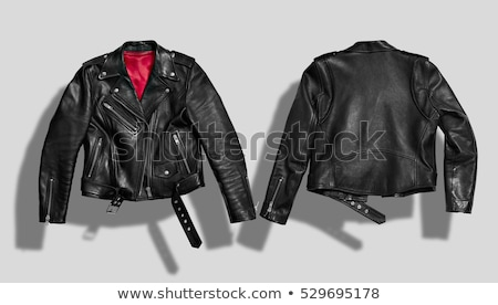 woman with leather jacket stock photo © w20er