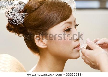 Stockfoto: Asian · bruid · bruiloft · make · mooie