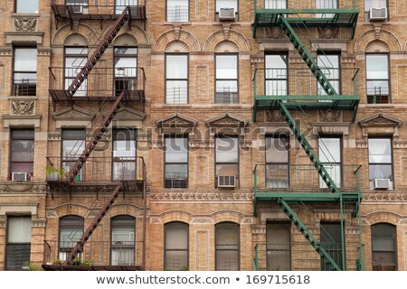 The typical fire stairs on old house in New York  Stock photo © CaptureLight