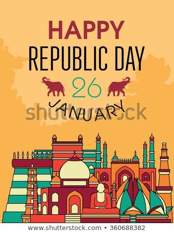 India zászló boldog köztársaság nap gyönyörű Stock fotó © bharat