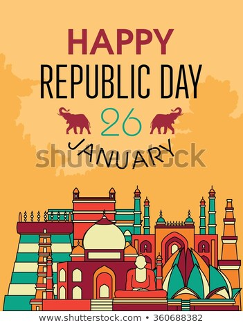 abstrato · tricolor · indiano · bandeira · feliz · dia - foto stock © bharat