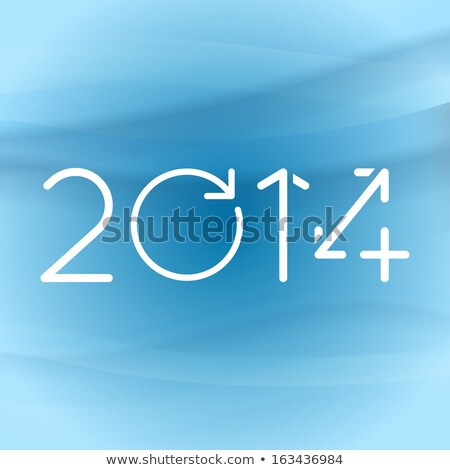 Blue Text 2014 Year on Dark Digital Background. Stock photo © tashatuvango