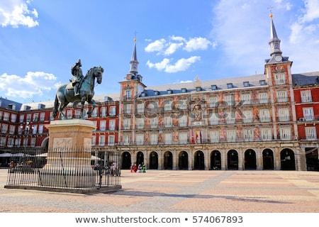 Madri · céu · cidade · viajar · europa · férias - foto stock © sailorr