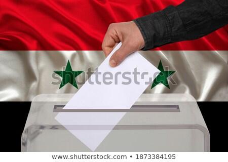 europa · Síria · bandeira · misto · tridimensional · tornar - foto stock © ustofre9