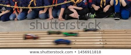 Derby suivre voitures bois Photo stock © njnightsky