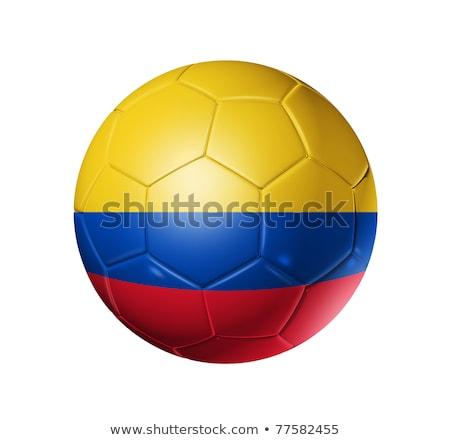 サッカー · サッカー · ボール · コロンビア · フラグ · 3D - ストックフォト © creisinger