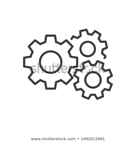 Set of gear wheels isolated on white background Stock photo © elenapro