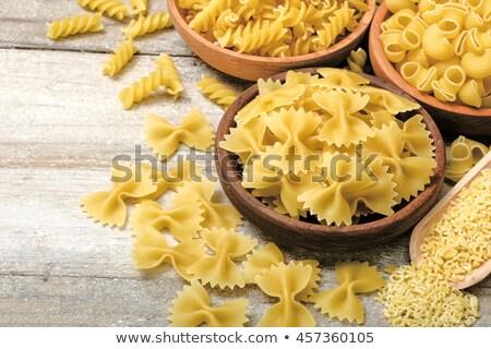Száraz tészta friss gurmé csíkos szívárványszínű Stock fotó © songbird