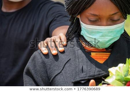 szomorú · kaukázusi · nő · halál · figyelmeztetés · kéz - stock fotó © candyboxphoto