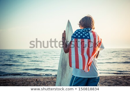 Hawaiian and American Flag Stock photo © LAMeeks
