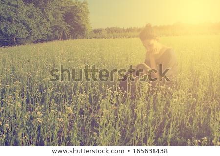 jonge · kaukasisch · vrouw · park · zachte · zomer - stockfoto © dariazu