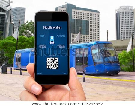 Hombre código qr tarjeta de visita personal datos Foto stock © stevanovicigor