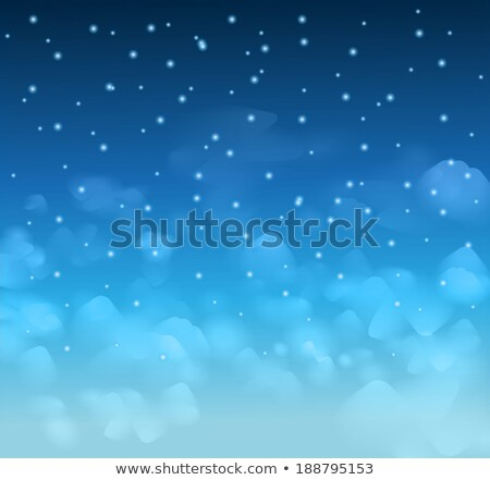 A magical Nigh Blue sky with stars and delecate clouds Stock photo © DavidArts