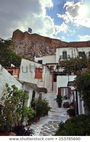 狭い アクロポリス 壁 アテネ ギリシャ 春 ストックフォト © sirylok