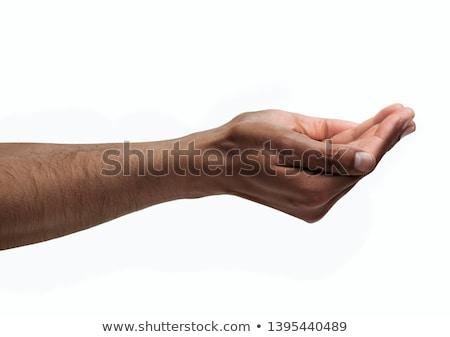 man - cupped hands stock photo © dgilder