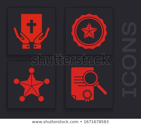 marketing · lupa · papel · velho · vermelho · vertical · linha - foto stock © tashatuvango