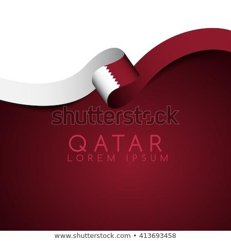 флаг Катар темы Идея дизайна текстуры Сток-фото © kiddaikiddee