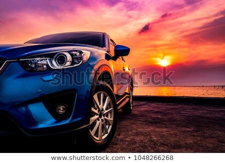 Mavi spor araba örnek araba dizayn teknoloji Stok fotoğraf © daneel