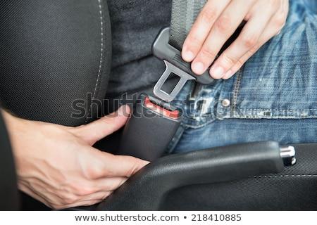człowiek · jazdy · samochodu · bezpieczeństwa · pasa · lasu - zdjęcia stock © nito