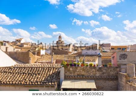Straat oude binnenstad Spanje venster gebouwen steen Stockfoto © wjarek