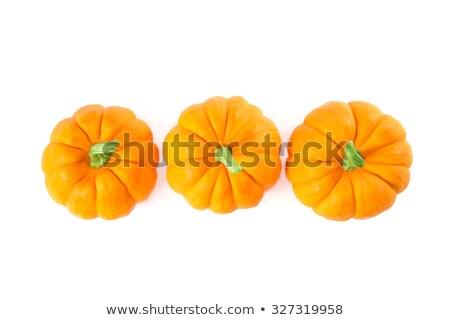 Top View Of Decorative Orange Pumpkins Photo stock © Elisanth